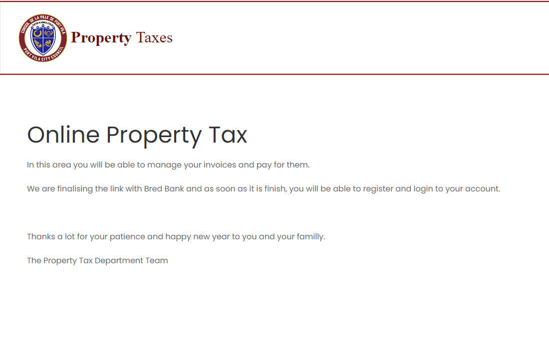 Online property Tax